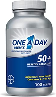 One-A-Day Men's 50+ Healthy Advantage Multivitamins 100 ea (Pack of 4)