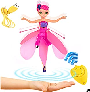 Flying Fairy Doll Girl 6 Years Old, Infrared Sensor Control Remote Control Helicopter Child Toy Teen Toy Ballet Girl Flying Princess Doll