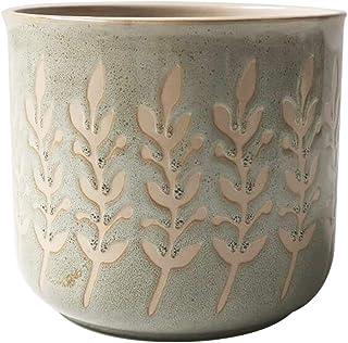 Blue Sky Ceramic Rusted Leaves 5' Flower Pot, Multi Color
