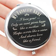Favorite Aunt Gifts,Aunt Gifts from Niece,Favorite Aunt Gifts-Makeup Mirror Silver