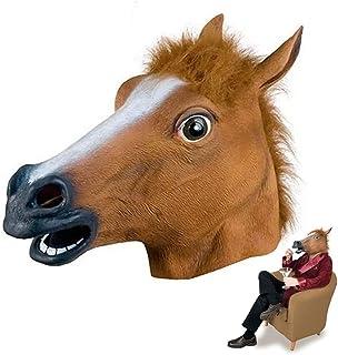 Horse Head Mask, Latex Animal Head Mask Horse Head - Latex Animal Head Mask for Adults And Kids, Novelty Halloween Costume