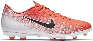 Nike Men's Vapor 12 Club FG/MG Soccer Cleats (Hyper Crimson/Black-White)