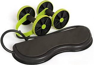 LYQY, ab roller wiel, dubbele wiel ab roller, spier trainer wiel abdominale, krachtbestendige bands, gym arm taille been t...