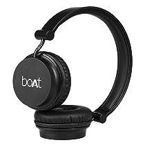 boAt Rockerz 400 Wireless Bluetooth On Ear Headphones with Mic (Carbon Black)