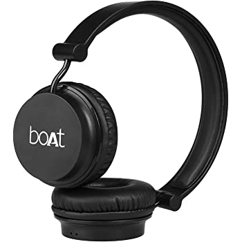 boAt Rockerz 400 Bluetooth Headphone with Super Extra Bass, Up to 8H Playtime, Dual Connectivity Modes, Foldable Earcups and Lightweight Design (Carbon Black)