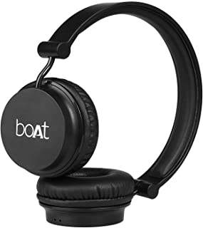 boAt Rockerz 400 Bluetooth On-Ear Headphone with Mic(Carbon Black)