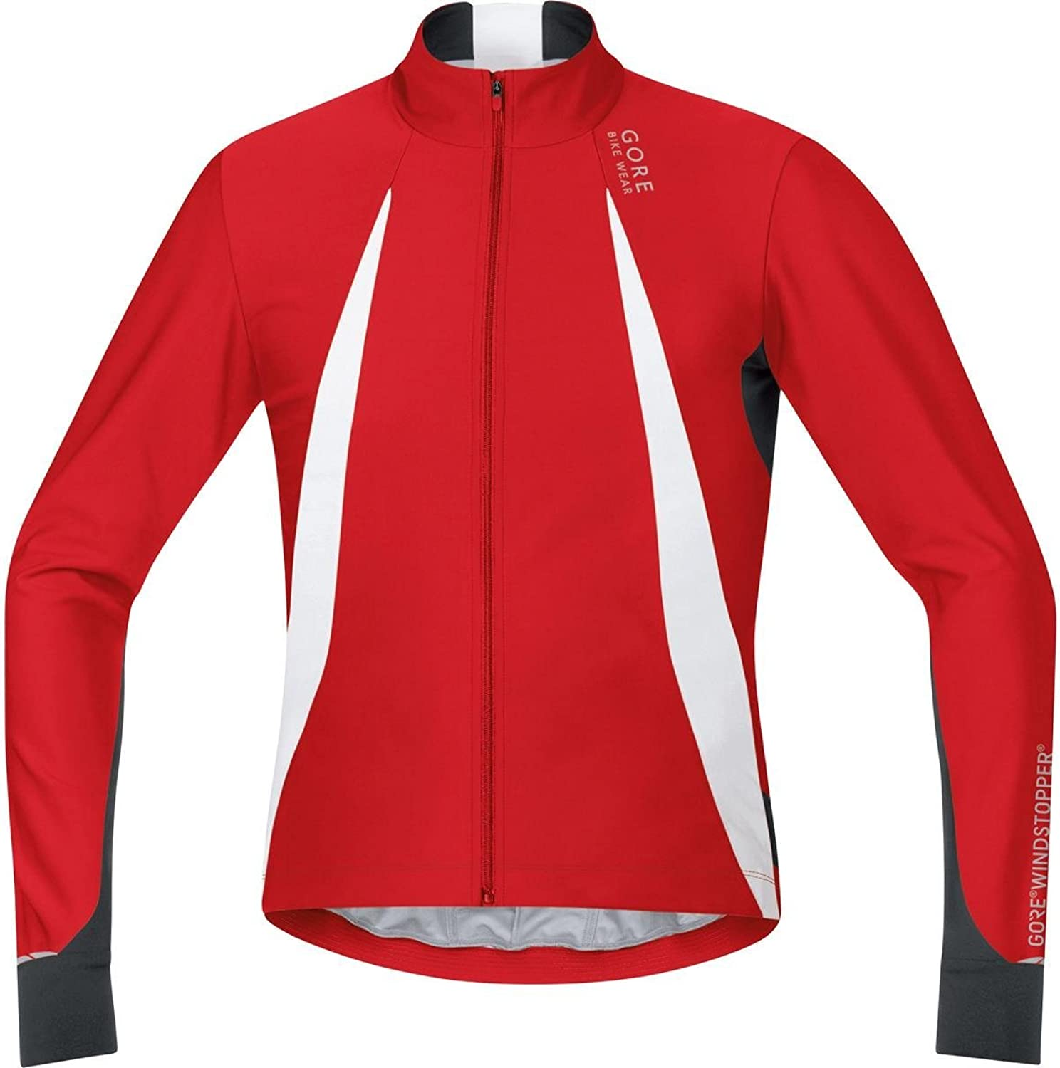 Gore Bike Wear Men′s Cyclist Jersey Long Sleeves Warm Gore Windstopper Oxygen Size XXL Red Black SWOXLM