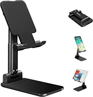 Mobile Phone Stand Holder,Multi-Angle Adjustable Smart Phone Desk Stand Dock,Compatible with All Android Smartphone,iPhone...