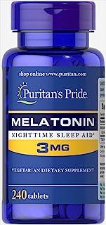 Puritan's Pride Melatonin Tablets, 3 mg, 240ct