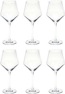 Schott Zwiesel 112422 Serie Pure 6-teiliges Beaujolais Rotweinglas Set, Kristallglas