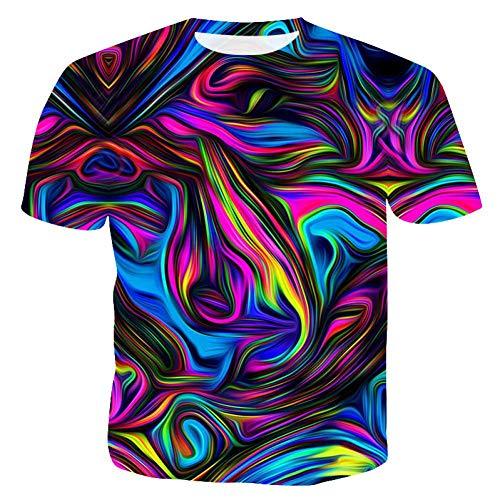 XJWDTX T-Shirt Imprimé pour Hommes Chemise 3Dt pour Hommes T-Shirt À Col Rond