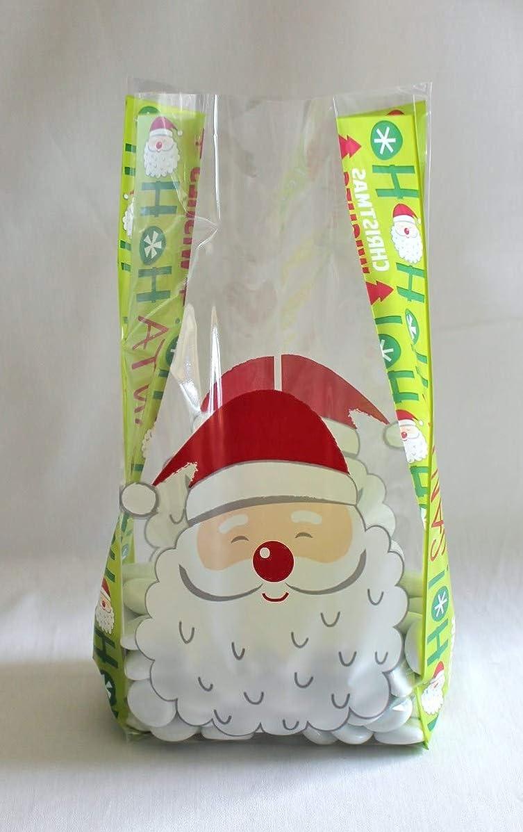 Christmas Holiday Santa Claus Cello Cellophane Party Favor Treat Bags - Pack of 25 (Medium)