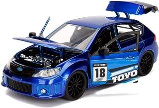 2012 Subaru Impreza WRX STI Blue JDM Tuners 1/24 Diecast Model Car by Jada 30390