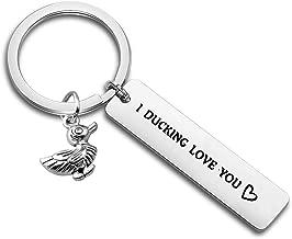 ENSIANTH Gift for Boyfriend I Fucking Love You Cute Duck Pun Keychain I Ducking Love You for Boyfriend Husband Best Friends