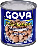 Goya Foods Whole Mushrooms, 4 Ounce (Pack of 24)