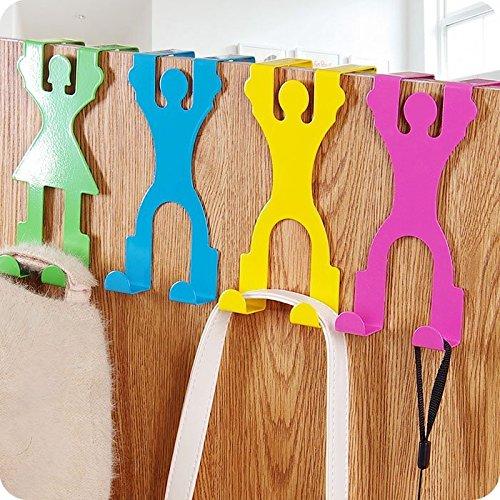 Bazaar Kleerhanger voor heren, schattige vorm, roestvrij staal, voor deuren, kledingkast, decoratie