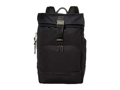 Tumi Harrison Osborn Roll Top Backpack (Black) Backpack Bags