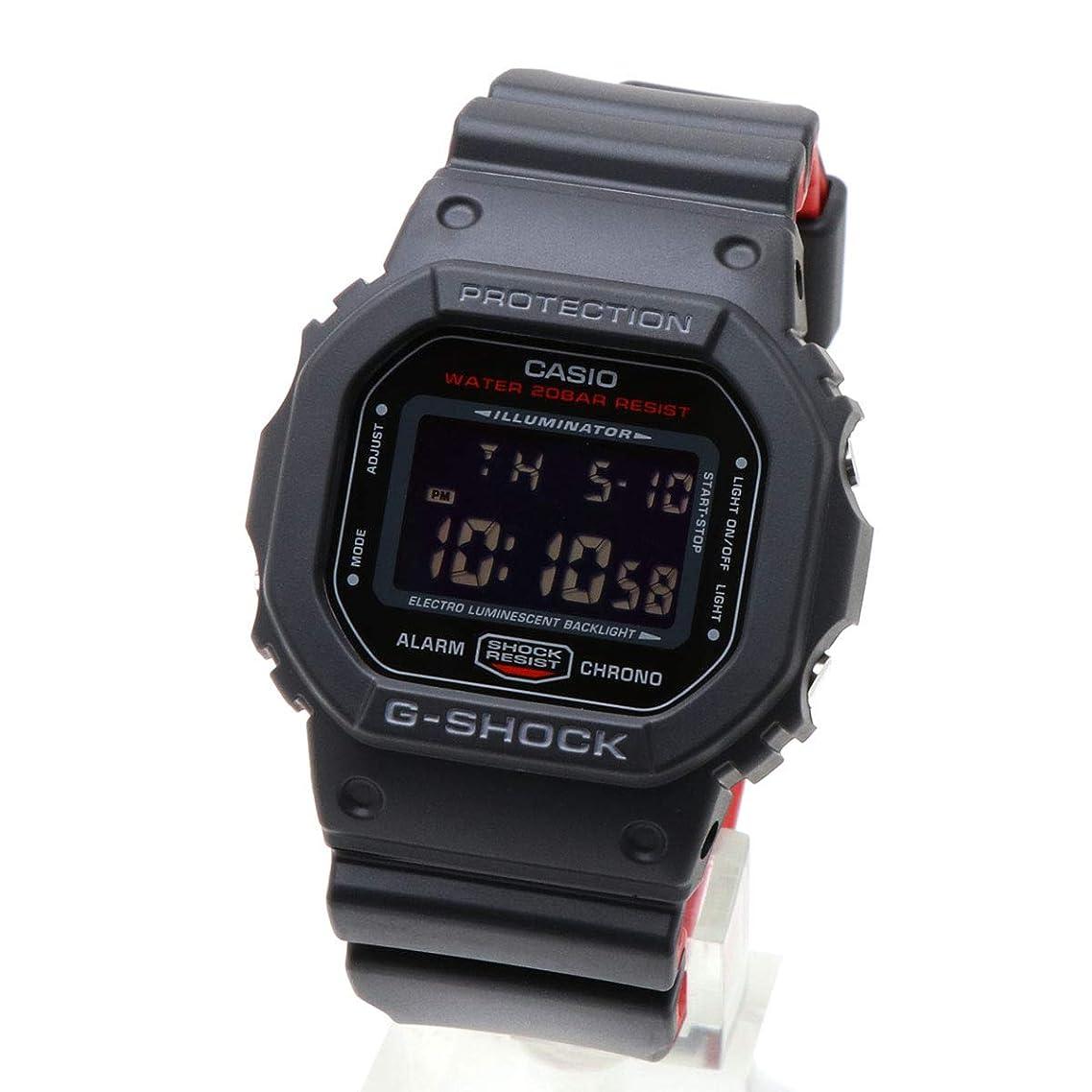 モニター故国遮る新品?二年保証 G-SHOCK ジーショック CASIO カシオ DW-5600HR-1 5600 スピードモデル 黒 赤 スクエア 四角 デジタル ウォッチ 腕時計 ボーイズサイズ オレンジ 同型:DW-5600HR-1JF [並行輸入品]