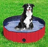 BLUE CHARM Piscina Plegable del Perro - Piscina Plegable portátil del Kiddie de la Tina de baño del Animal doméstico del PVC para al Aire Libre