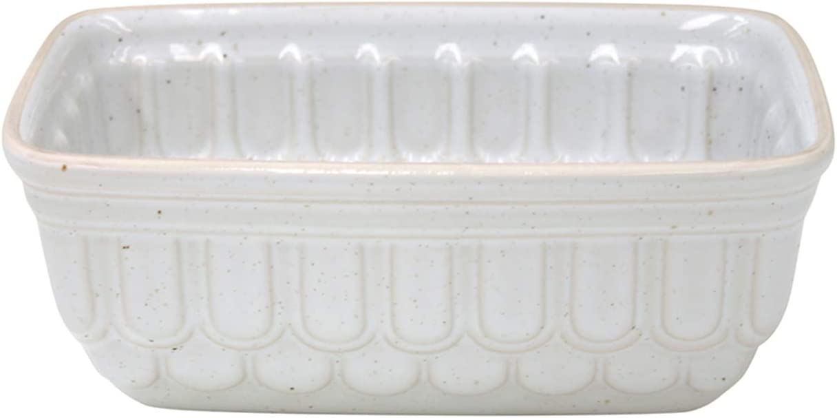 Casafina Finally popular brand Fattoria Collection Stoneware Ceramic Loaf Pan Whit 8