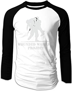 Tdsgbd Wounded Warrior Project Men's Cotton Raglan Long Sleeve Fitness Baseball Uniform T-Shirt