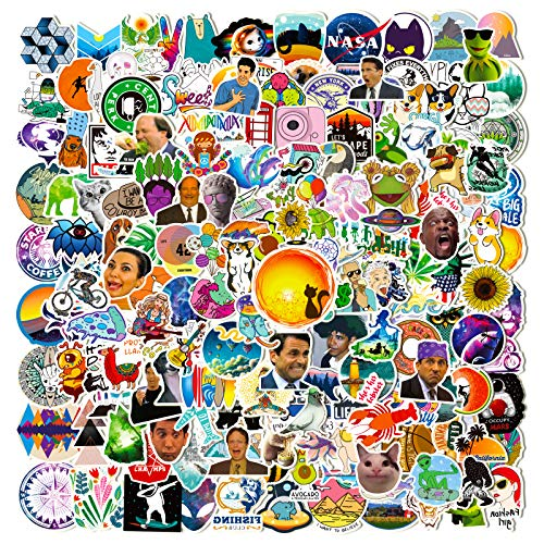 Stickers Pack |200 PCS| Vinyl Waterproof Stickers for Laptop,Skateboard,Hydro Flask,Water Bottles,Computer,Phone,Guitar,Funny Aesthetic Stickers for Adult/Teens/Kids,Perfect for Gift