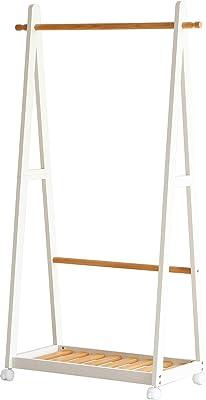 市場(Marche) コートハンガー ナチュラルホワイト 幅85x奥39.5x高さ150cm ハンガー 高さ150cm H-3200NAWH