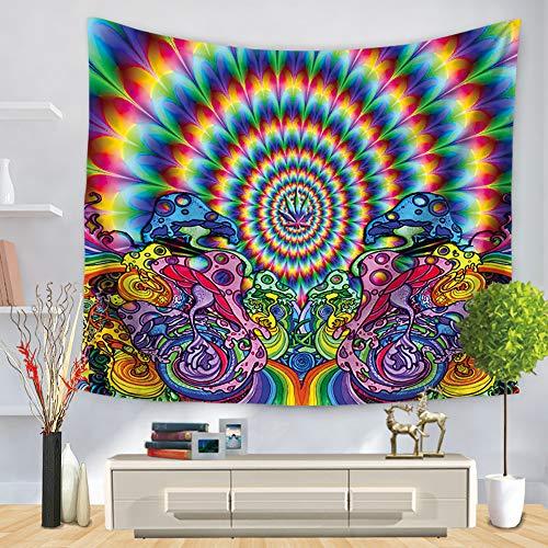 Morbuy Wandteppich Psychedelic, Wandtuch Wandbehang Mandala Abstrakte Kunst Trippy Wandteppich Hippie Tapestry Wall Hanging Tapisserie für Schlafzimmer Wohnzimmer Wohnheim (75 x 90 cm, Hippie 5)
