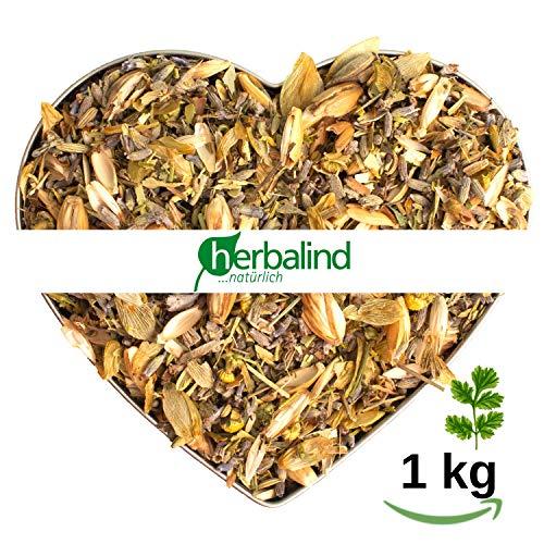 Herbalind Kräutermischung natürliche Kräuter ohne Zusätze - Duftintensiv, Luftgetrocknet und naturbelassen - Lavendel Blüten für Duftkissen, Duftsäckchen, Lavendelsäckchen (Kräutermischung, 1 kg)