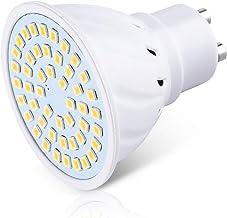 GU10 LED لمبة مصباح، 80Leds بقعة لمبة 8W 800LM، السوبر مشرق 120 شعاع زاوية لا عكس الضوء لديكور المنزل الإضاءة، 6PCS,Natura...