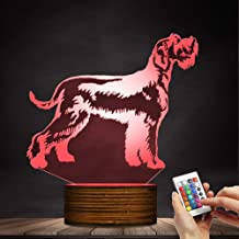 Schnauzer LED Night Light 3D Decorative Lighting Color Acrylic Lamp Zjnhl Exquisite Gift