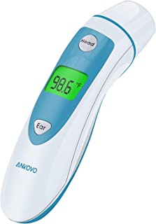 ANKOVO Thermometer for Fever Digital Medical Infrared Forehead and Ear Thermometer for Baby, Kids and Adults with Fever In...
