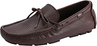 rismart Men's Moccasins Driving Car Bowknot Slip on Loafers Flats