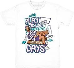 Grape 5 Fresh Prince Playground White Shirt to Match Jordan 5 Grape Fresh Prince Sneakers