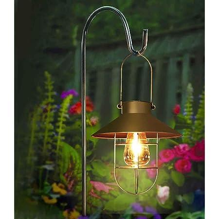 lumi/ères de No/ël Hauteur : 120 cm. XNX Crochets de berger en m/étal avec pute pour lampes solaires lanternes boule de fleurs Noir paniers de plantes de mariage