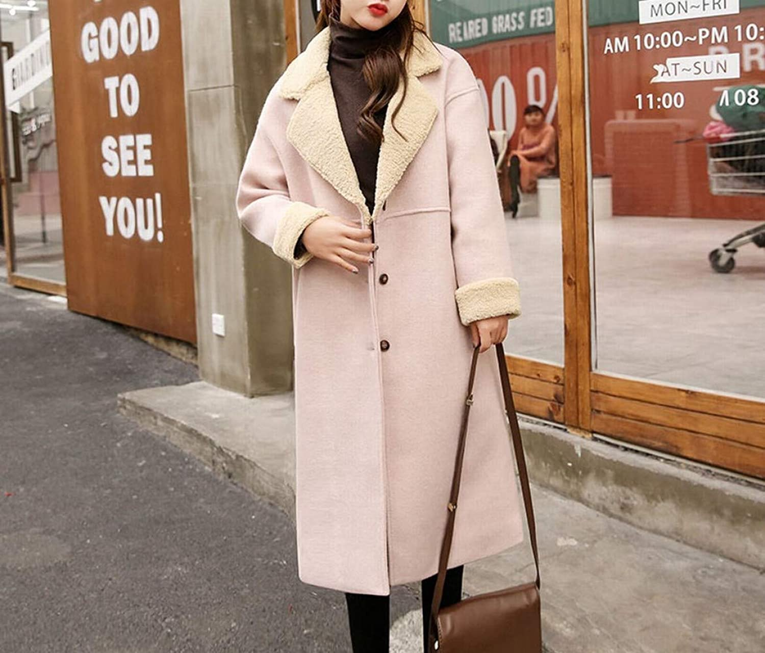 Coat Jacket, Woolen Coat, Winter Woolen Coat, Female Long Slim Slimming Coat, Versatile Coat XQY