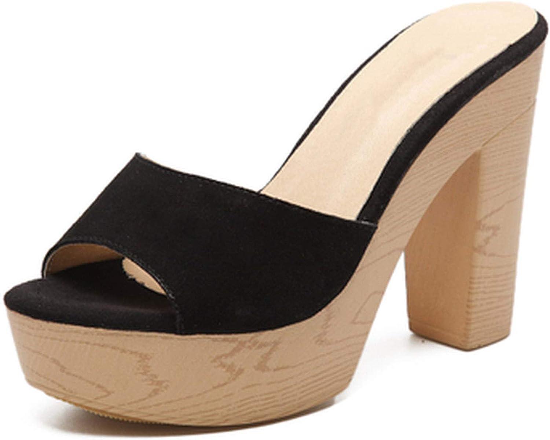 Korean Version of High-Heeled Sandals and Slippers Platform Waterproof Women's Sandals Fashion Beach Slippers