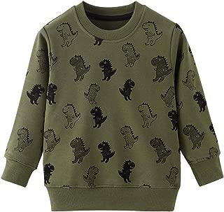HUAER& Baby Boy's Crewneck Cotton Long Sleeve Sweatershirt