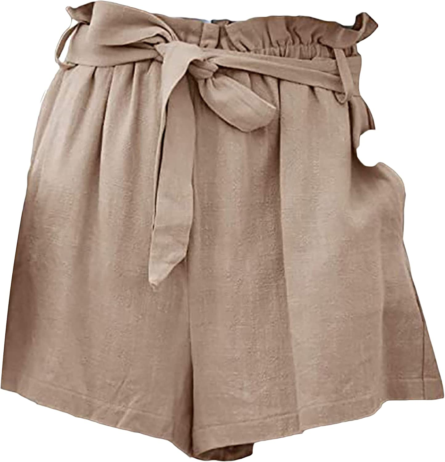 High Waist Super popular specialty store Bow Tie Shorts Denver Mall for S Paper Ruffle Women Bag