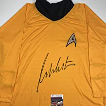 Autographed/Signed William Shatner Star Trek Captain Kirk Shirt/Uniform JSA COA