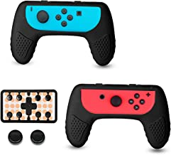 Joy-Con Controller Grip Handle Gel Guards Cover Anti-Slip Comfort Silicone Skin Case with Thumb Grip for Nintendo Switch Joy Con - 2 Pack