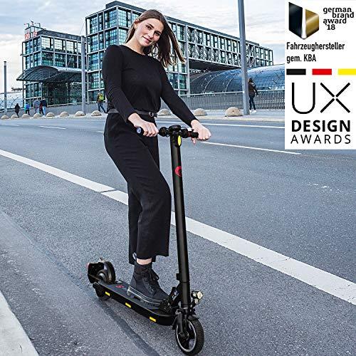 Ohmbike Marktneuheit 2020! Strassenzugelassene e Scooter mit ABE E-Roller CAT, Akku bis 20km, klappbarer Elektro-Roller E-Scooter Erwachsene & Kinder 300W