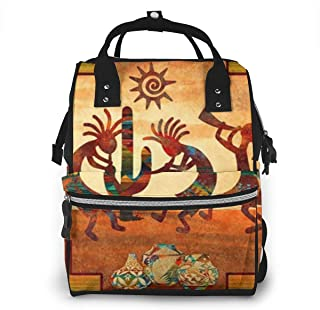 Ancient Egyptian Multi-Function Travel Backpack Nappy Bag,Fashion Mummy Bag