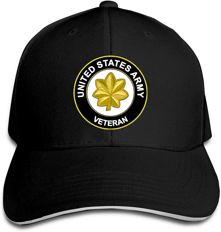 Us Army Major Veteran Unisex Sandwich Baseball Cap Adjustable Snapback Hat Outdoor Hat