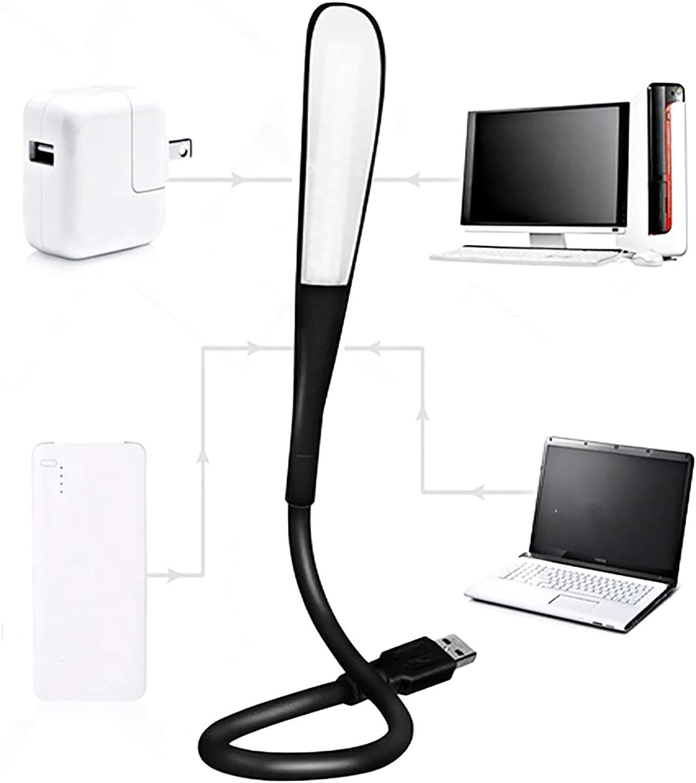 USB Reading Lamp,LED USB Light,Adjustable Flexible USB LED Lamp for Power Bank,Laptop,Notebook,USB Adapter,White-NaughtyKid