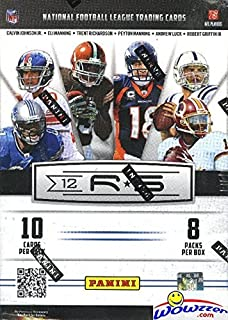 2012 Panini Rookies and Stars NFL Football Factory Sealed Retail Box with 80 Cards ! Look for RC's and Autographs of Top 2012 NFL Draft Picks including Andrew Luck,Russell Wilson and Many More !!