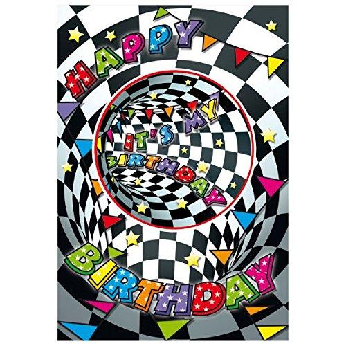 Susy Card verjaardagskaart Zwart-wit doosje