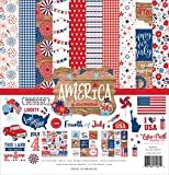 Echo Park Paper Company America Collection Kit paper, red, white, blue