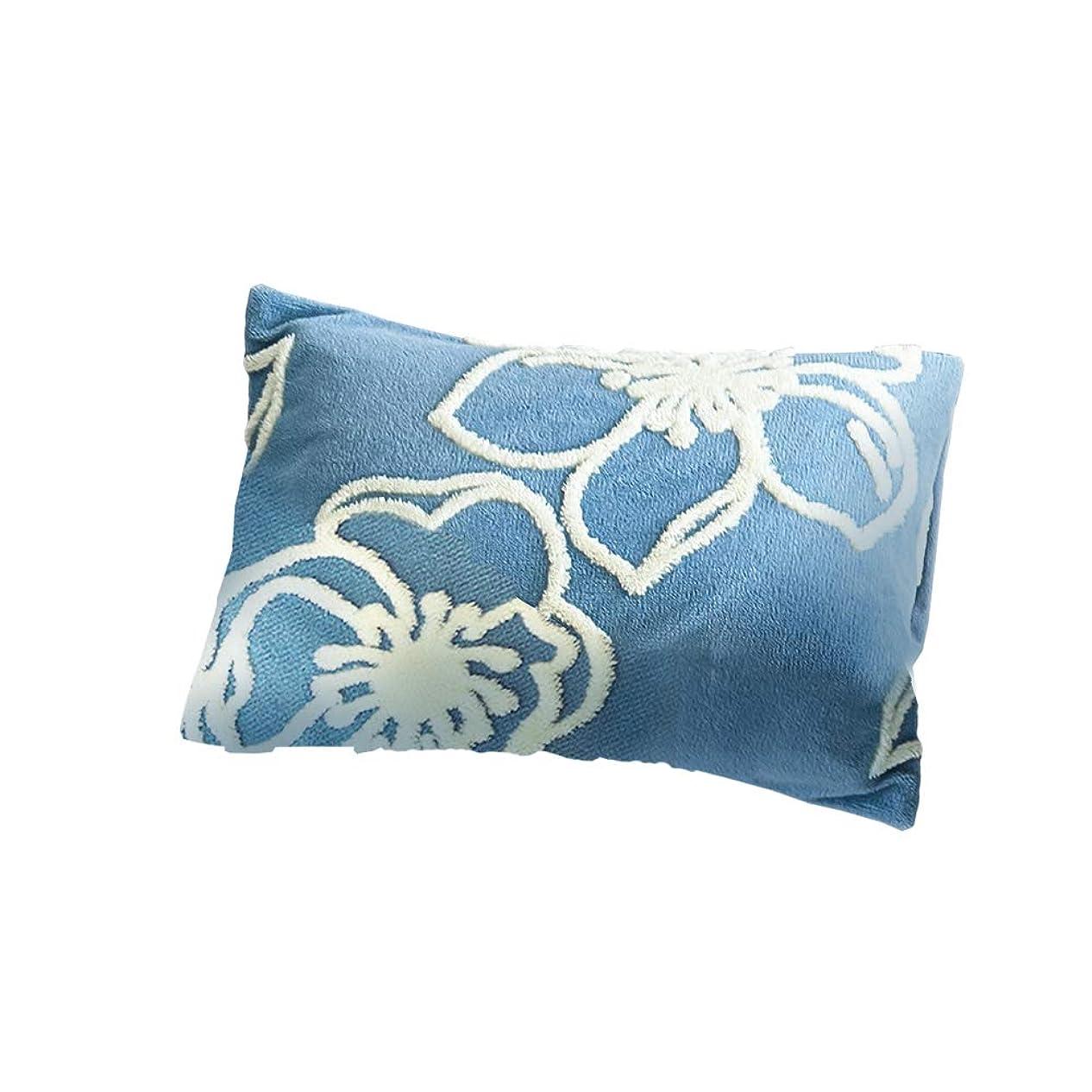 怒り先史時代の慣らすセシール 枕カバー ブルー L(63×43cm用) 表側毛布生地 ラインフラワー柄 CR-1111