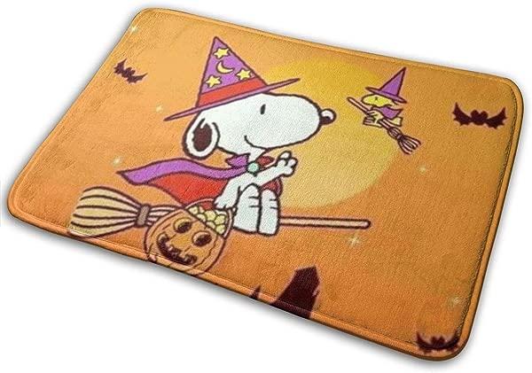 Duwamesva Doormat Soft Carpet Entrance Mat Stylish Halloween Snoopy Design For Patio Front Door Bathroom Balcony 23 6 X 15 7
